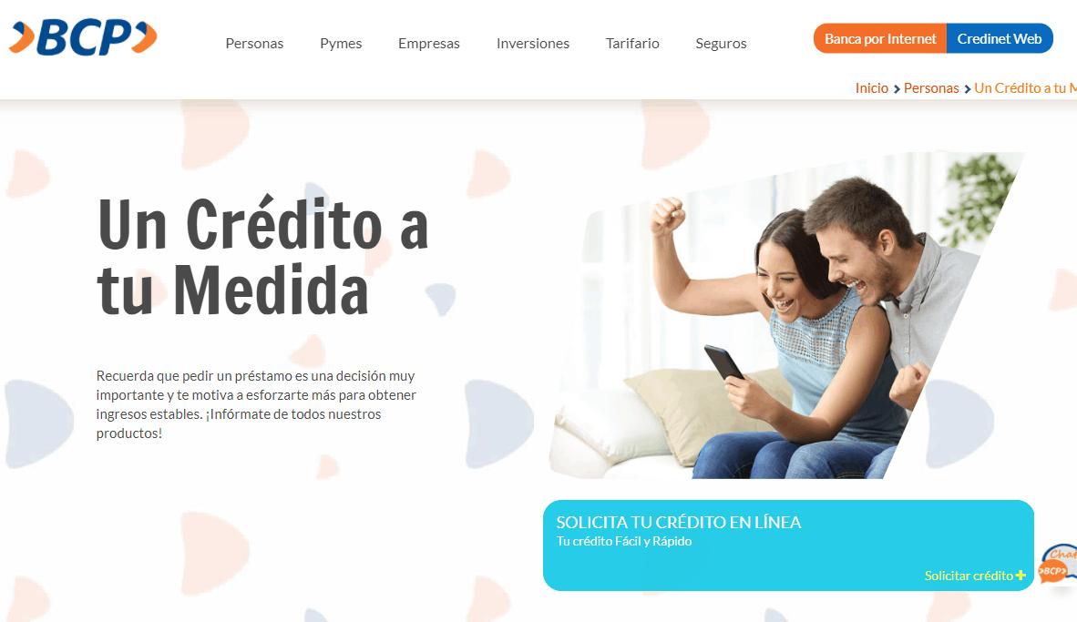 Préstamo Banco de Crédito de Bolivia - Cómo Simular en Línea